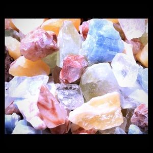 1/4 LB/500 Carats Calcite Crystal Chunks Beautiful